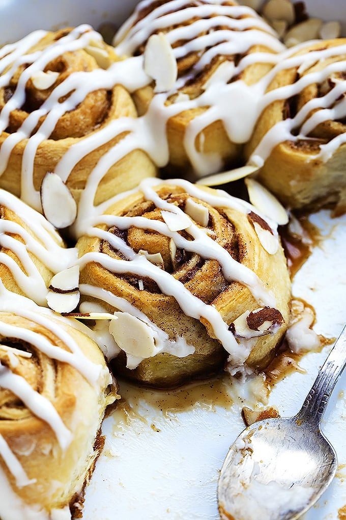 Desserts That Start With N  Flaky Almond Cinnamon Buns