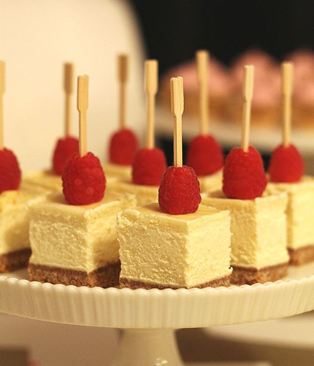 Desserts To Bring To A Party  party finger food cheesecake bites So simple