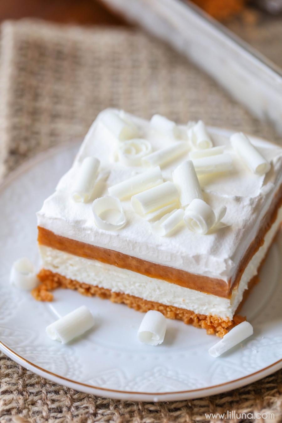 Desserts To Make With Cream Cheese  Pumpkin Lasagna Lil Luna