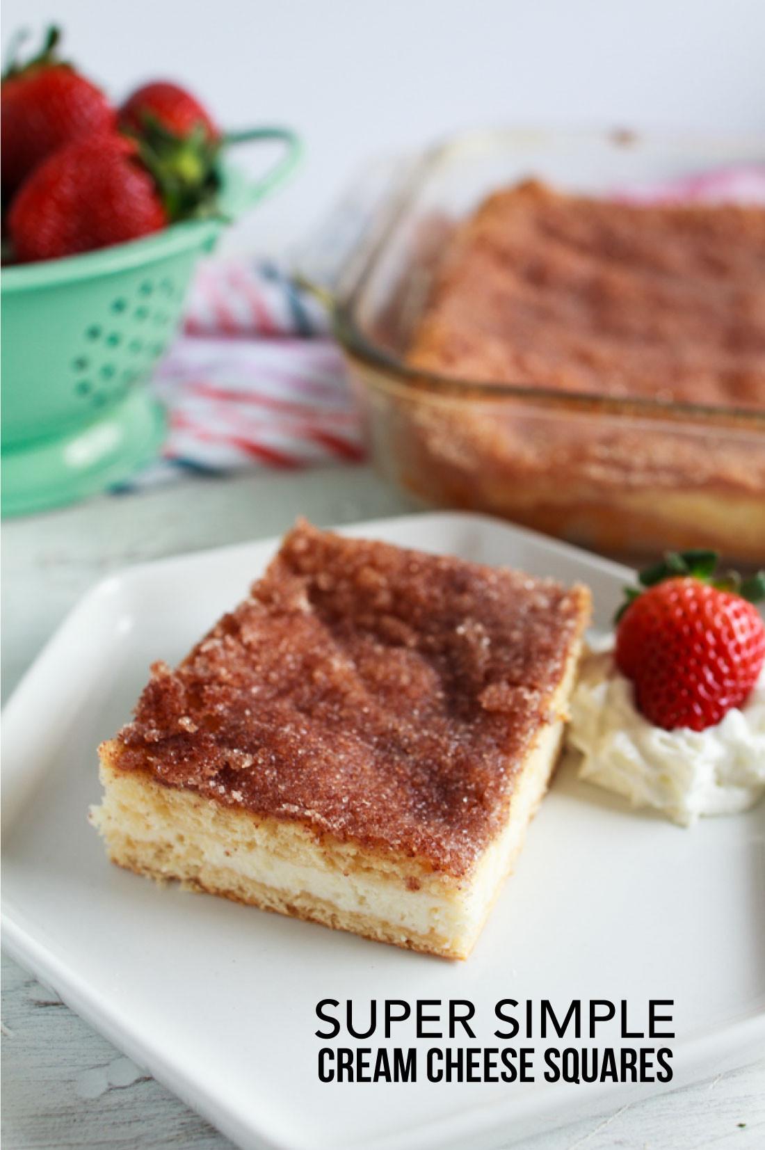 Desserts To Make With Cream Cheese  Super Simple Cream Cheese Squares Dessert
