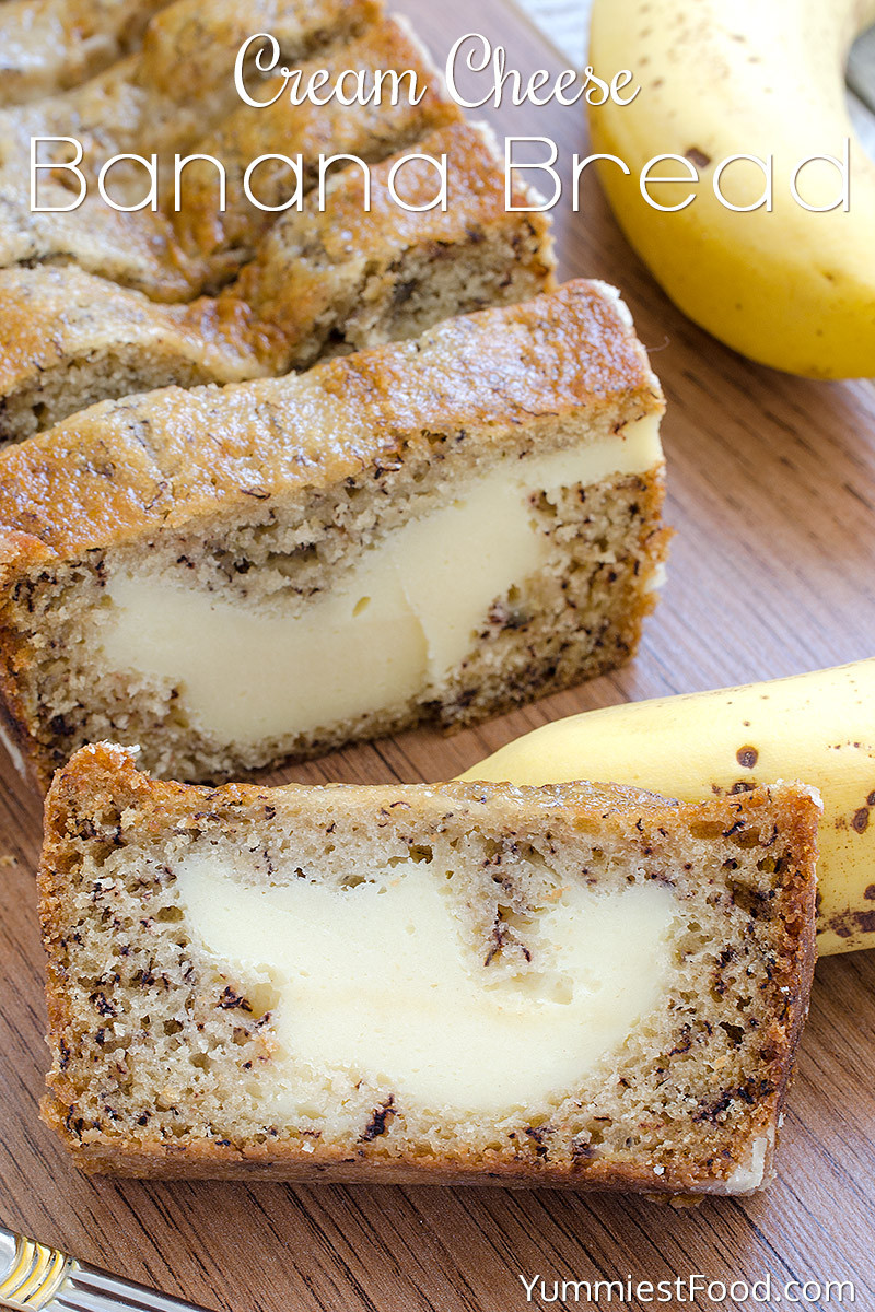 Desserts To Make With Cream Cheese  Cream Cheese Banana Bread Recipe from Yummiest Food Cookbook