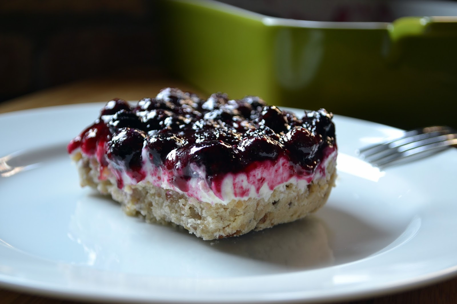 Desserts With Cream Cheese  Hardly Housewives Blueberry Cream Cheese Dessert