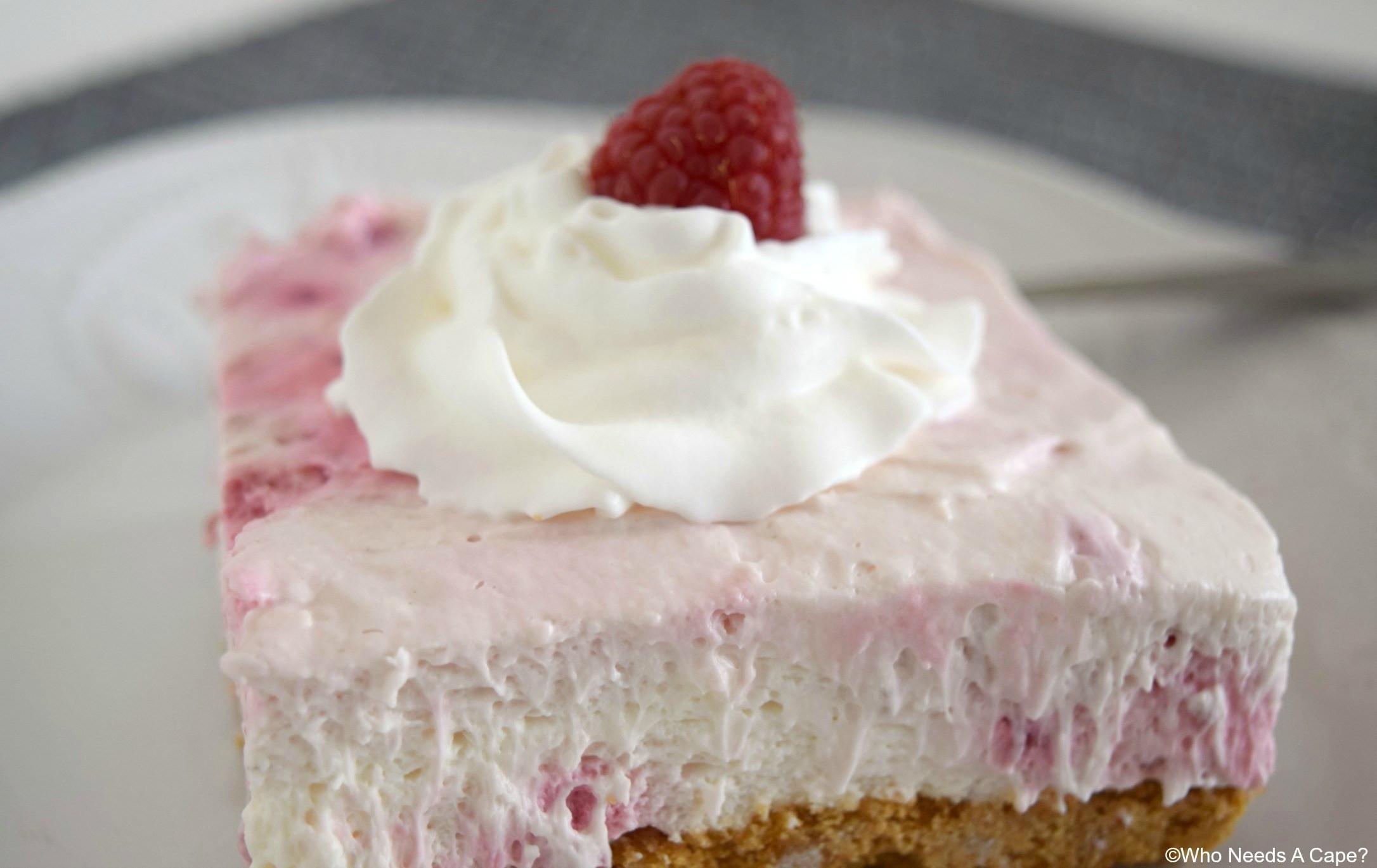 Desserts With Cream Cheese  Raspberry Cream Cheese Dessert Who Needs A Cape
