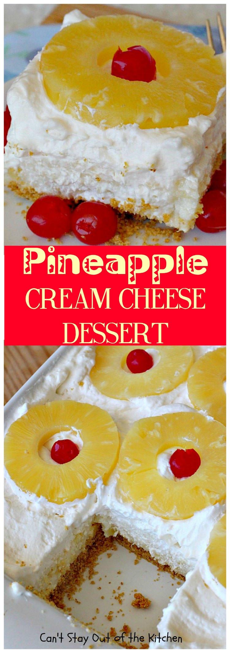Desserts With Cream Cheese  pineapple cool whip dessert graham cracker crust