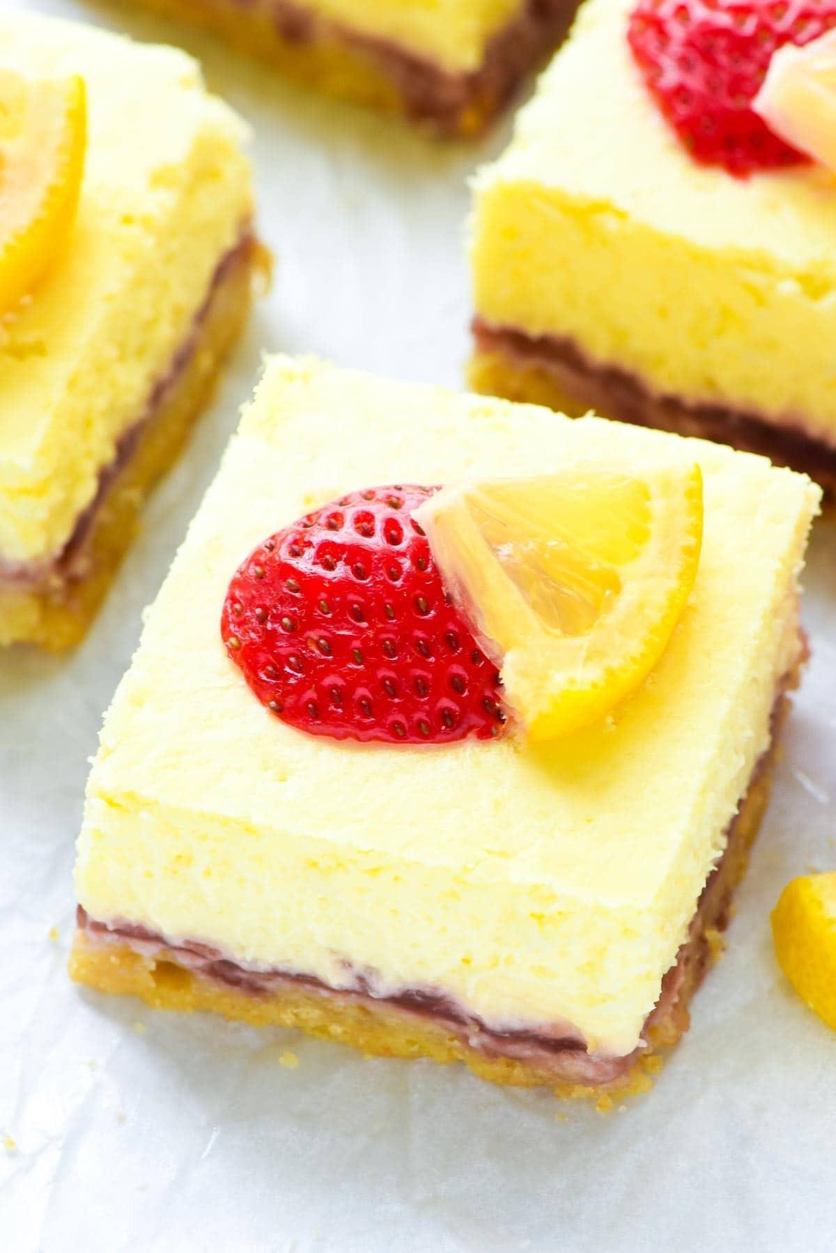 Desserts With Cream Cheese  lemon strawberry dessert recipes