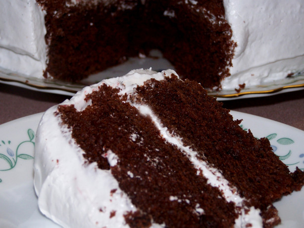 Devil'S Food Cake Recipe  Devils Food Cake Soaked In Rum Recipe Food