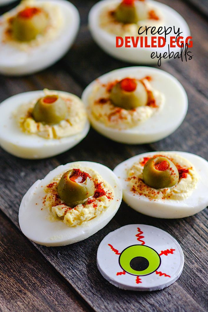 Deviled Eggs Halloween  This tasty appetizer is monly known but my version is