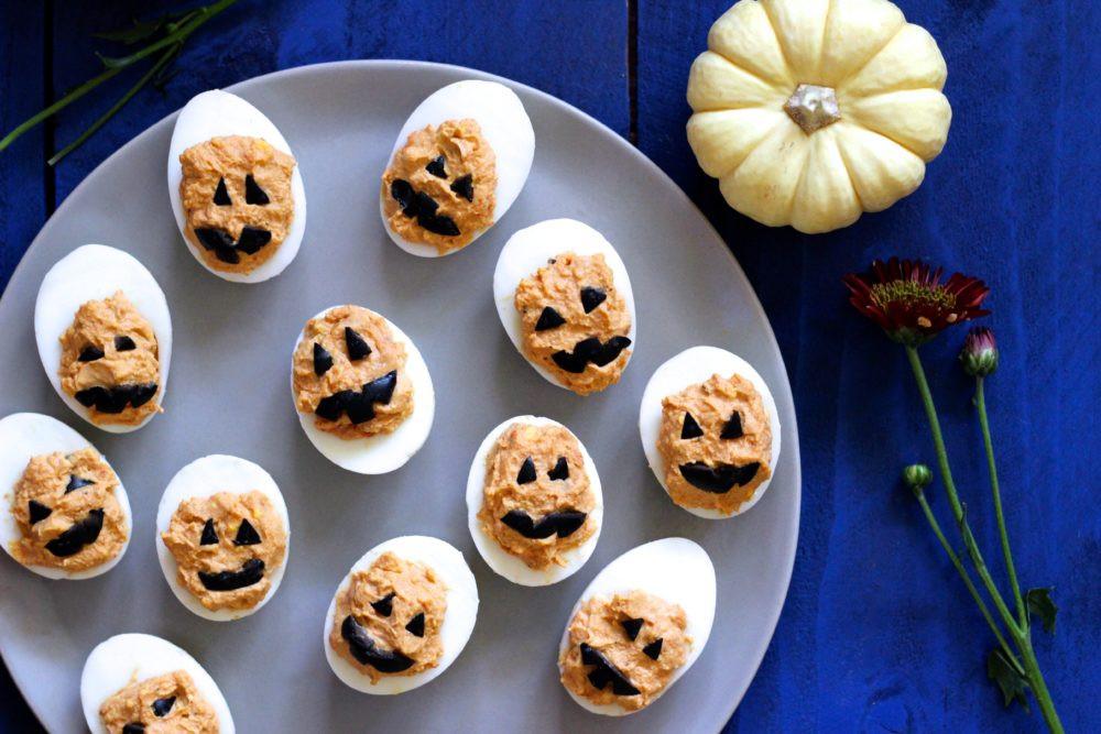 Deviled Eggs Halloween  Jack O Lantern Halloween Deviled Eggs what great grandma ate