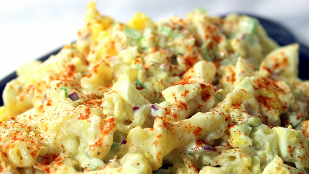 Deviled Eggs Pasta Salad  52 Ways to Cook Deviled Egg PASTA Salad Church PotLuck
