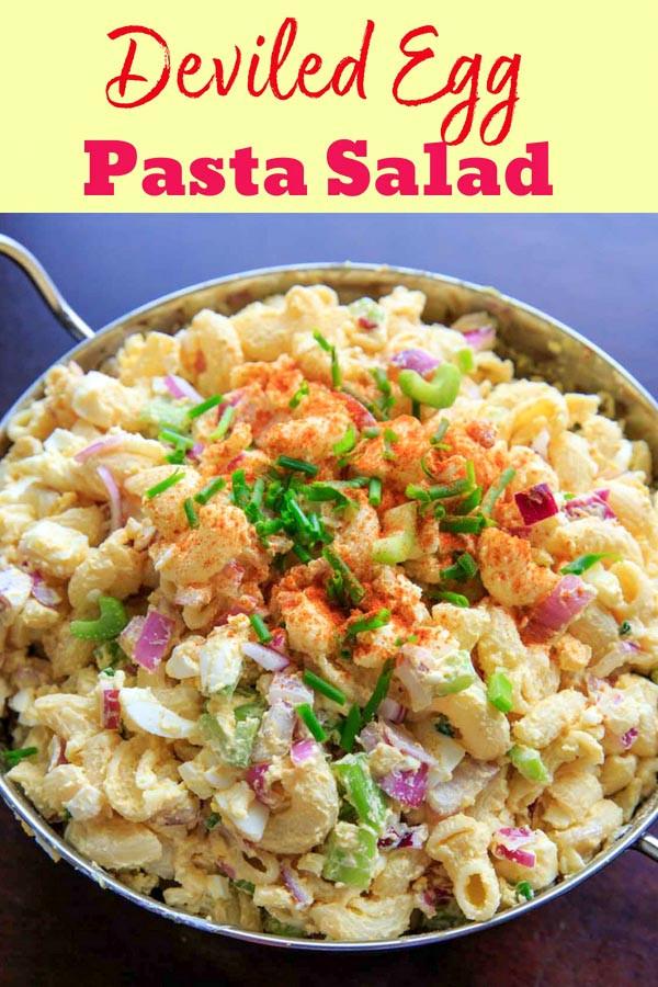 Deviled Eggs Pasta Salad  Deviled Egg Pasta Salad Macaroni light on mayo great