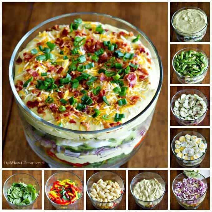 Deviled Eggs Pasta Salad  Creamy Deviled Egg Layered Pasta Salad The Best Blog Recipes