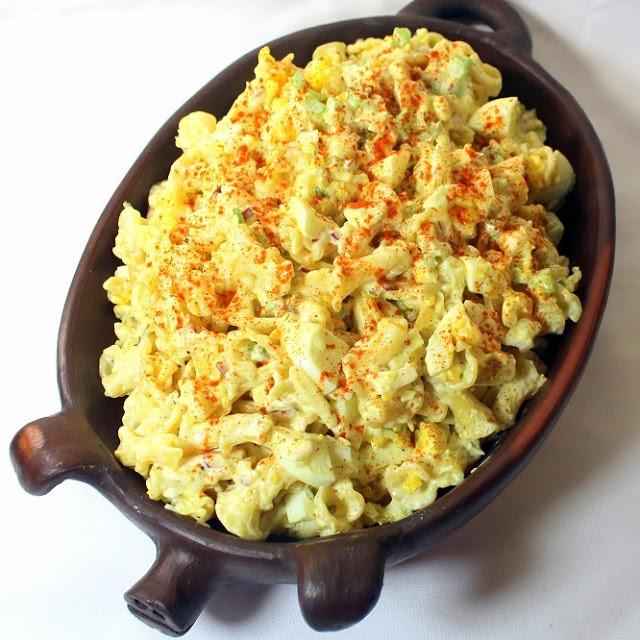 Deviled Eggs Pasta Salad  Inspired By eRecipeCards Deviled Egg PASTA Salad Church