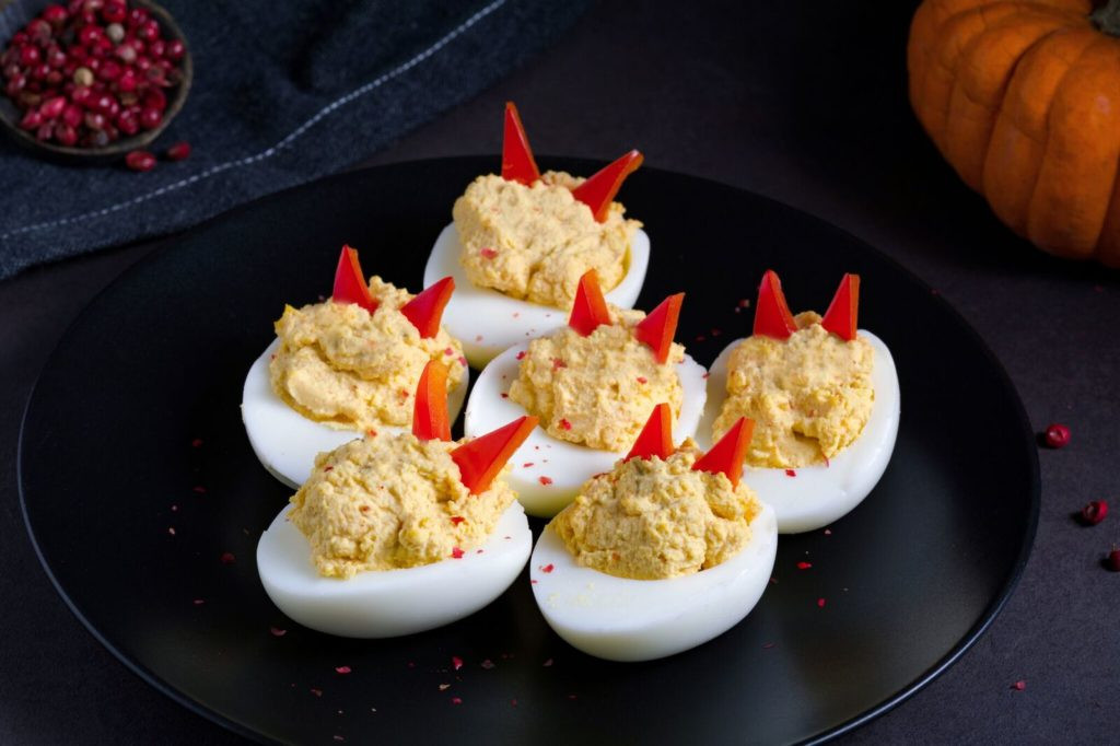 Deviled Eggs Thanksgiving  Thanksgiving menu modified by Quick Weight Loss Centers