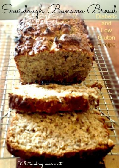 Diabetic Bread Recipes  Sourdough Banana Diabetic Bread Recipe Whats Cooking America