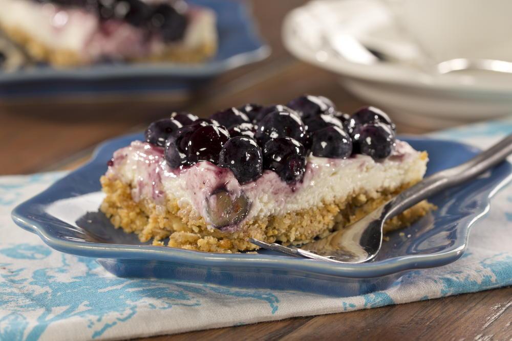 Diabetic Friendly Desserts  Blueberry Cheesecake Bars