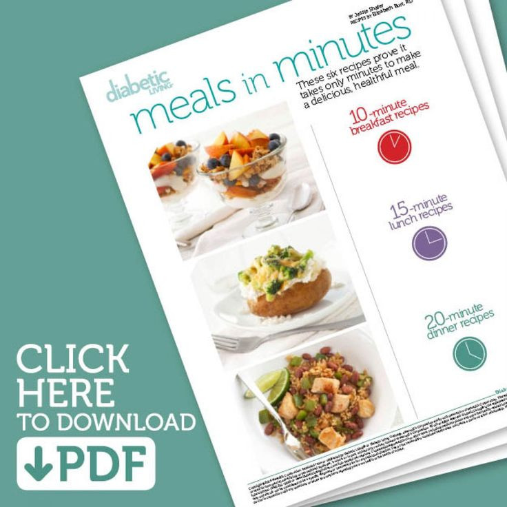 Diabetic Meal Recipes  1000 images about Quick & Healthy Meals on Pinterest