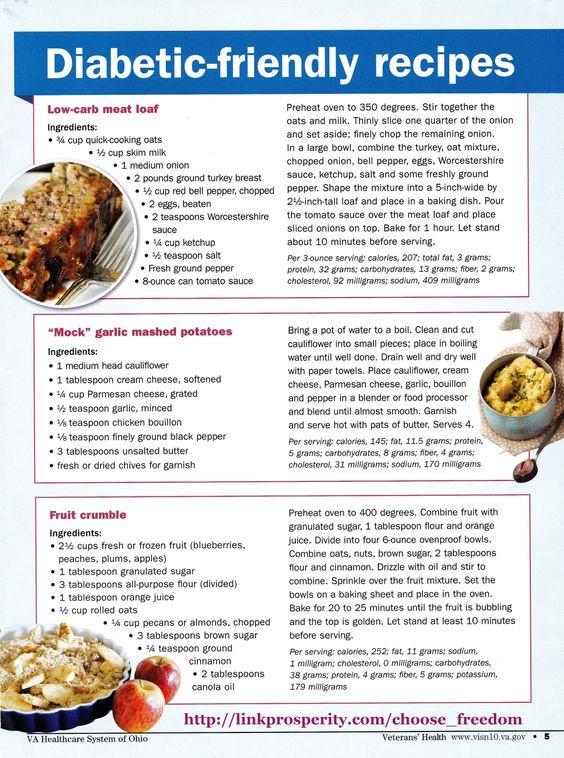 Diabetic Meal Recipes  Diabetic friendly Diabetes and Simple on Pinterest
