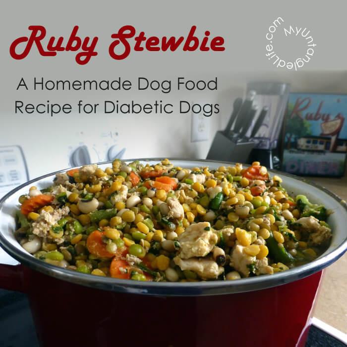 Diabetic Meal Recipes  Homemade Diabetic Dog Food Recipe Ruby Stewbie