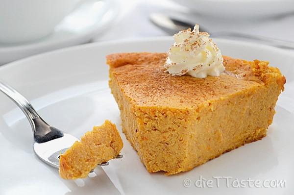 Diabetic Pumpkin Pie  Crustless Pumpkin Pie diabetic friendly