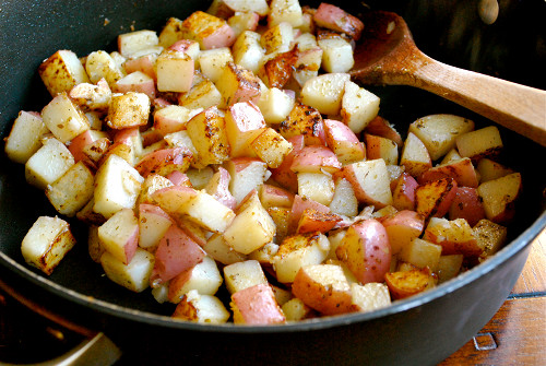 Diced Breakfast Potatoes  Homemade Breakfast Burritos • A Sweet Pea Chef
