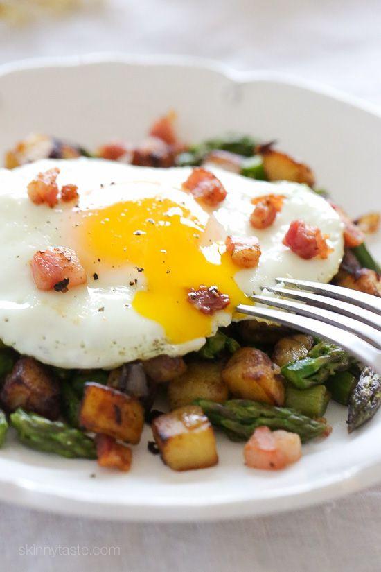 Diced Breakfast Potatoes  Asparagus Pancetta Potato Hash Recipe