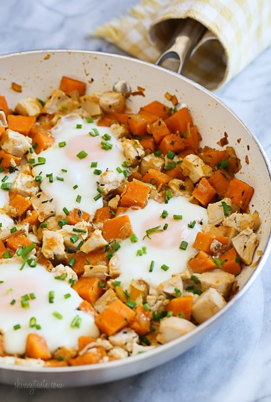 Diced Breakfast Potatoes  Skillet Sweet Potato Chicken Hash with Eggs