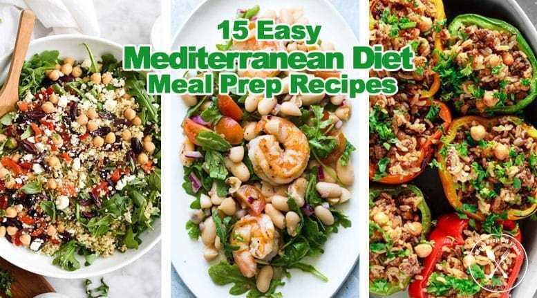 Diet Dinner Recipes  15 Easy Mediterranean Diet Meal Prep Recipes Meal Prep