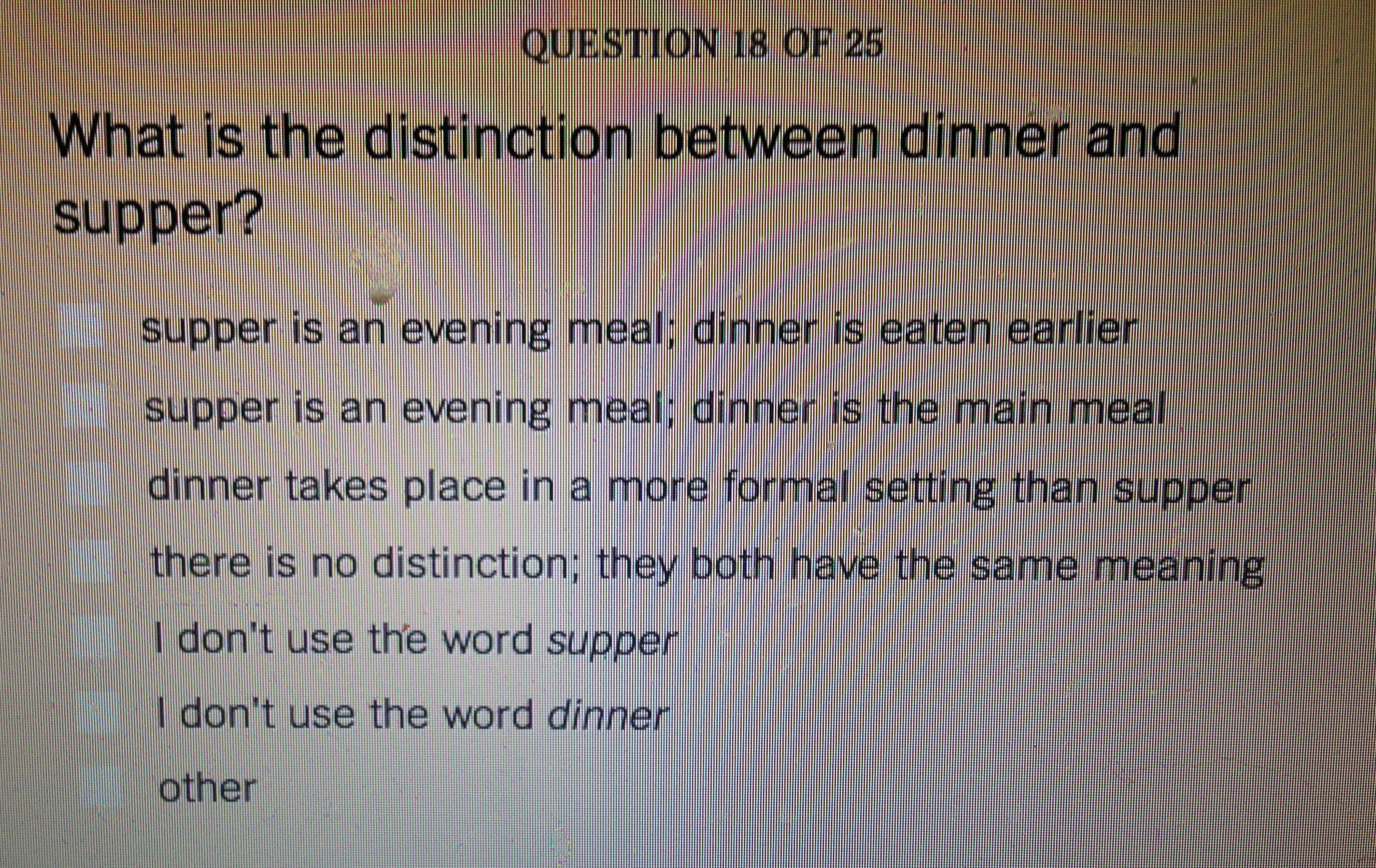 Difference Between Dinner And Supper  Though it looks like dinner it's really our supper