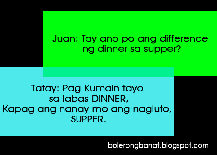 Difference Between Dinner And Supper  Difference ng DINNER sa SUPPER Bolerong Banat Cheezy