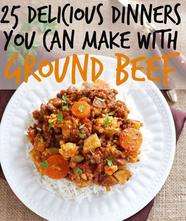 Different Dinner Ideas  different ground beef recipes