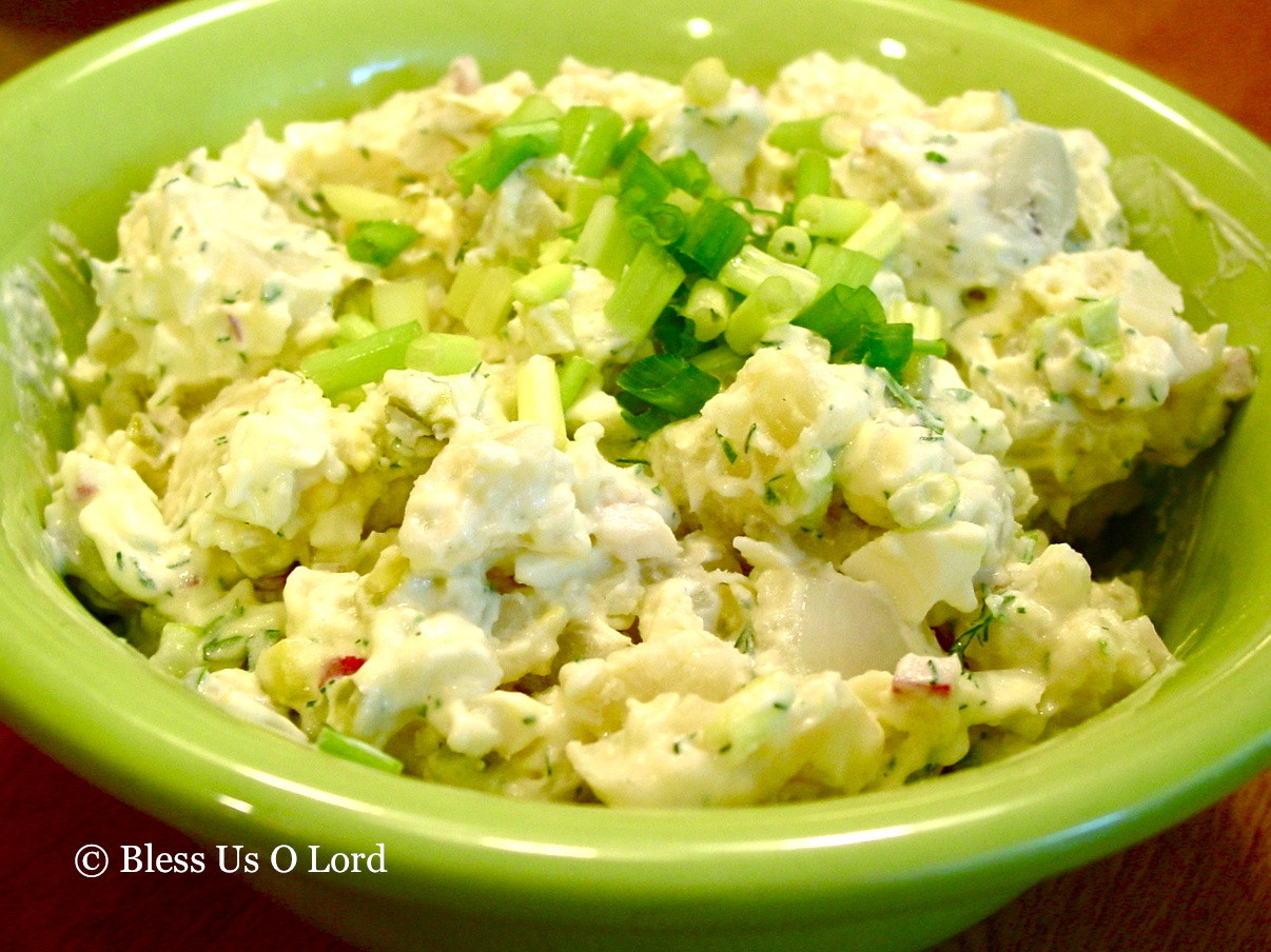 Dill Pickle Potato Salad  Bless Us O Lord Dill Pickle Potato Salad