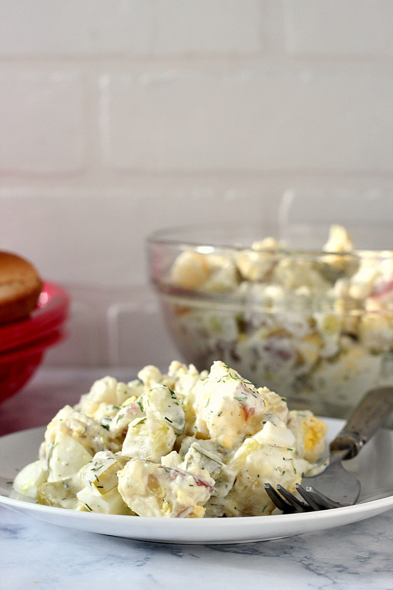 Dill Pickle Potato Salad  Dill Pickle Potato Salad Recipe Crunchy Creamy Sweet