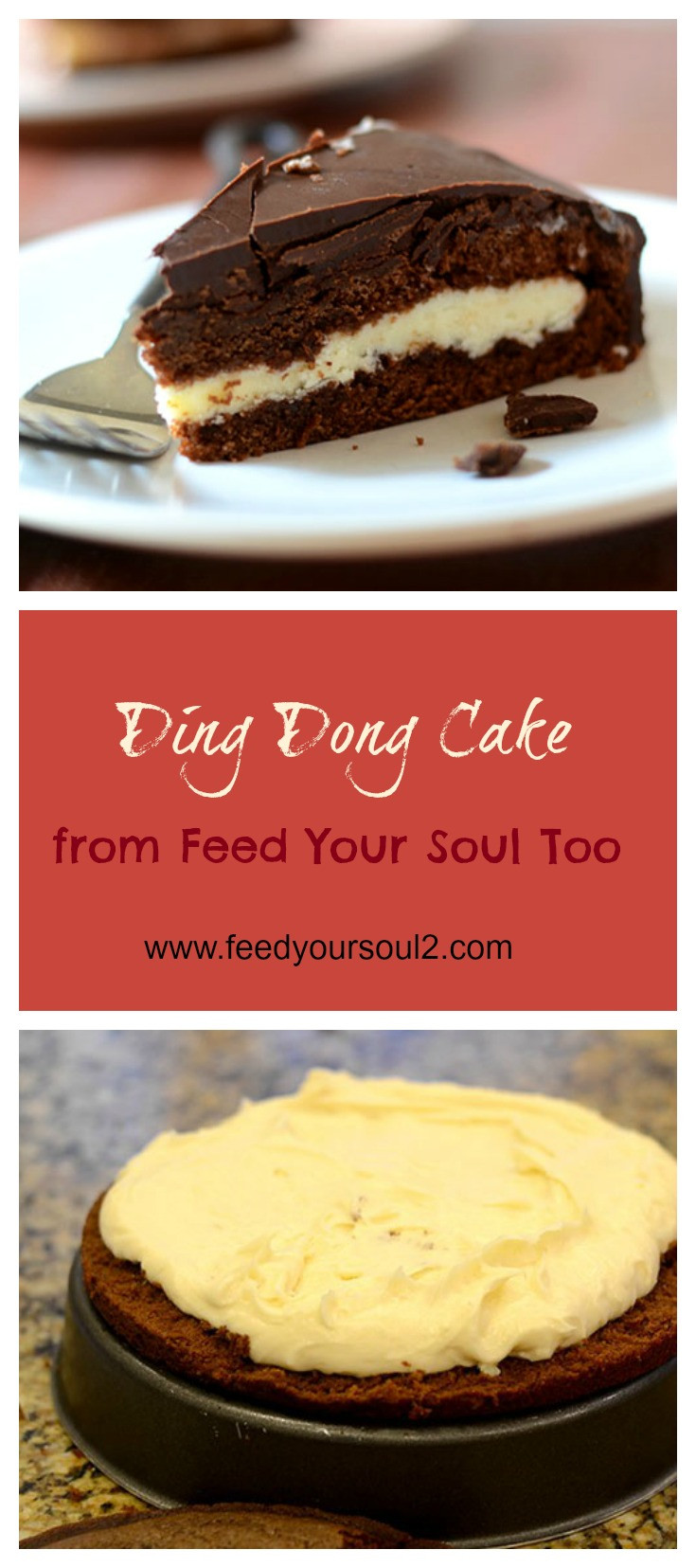 Ding Dong Dessert  Ding Dong Cake Feed Your Soul Too