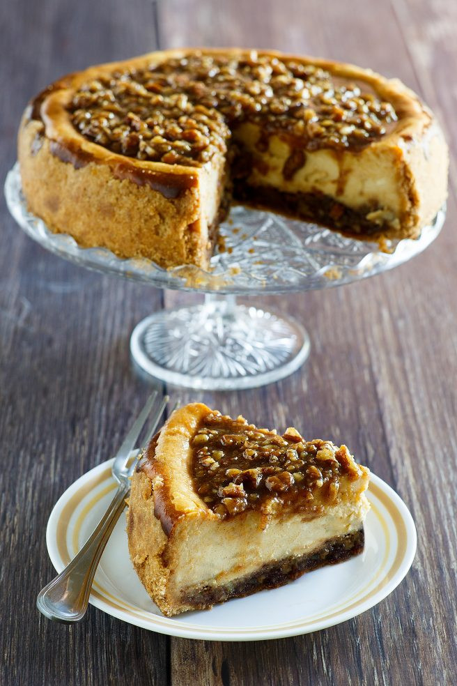 Dinner And Dessert  Pecan Pie Cheesecake Thanksgiving and Christmas Dessert