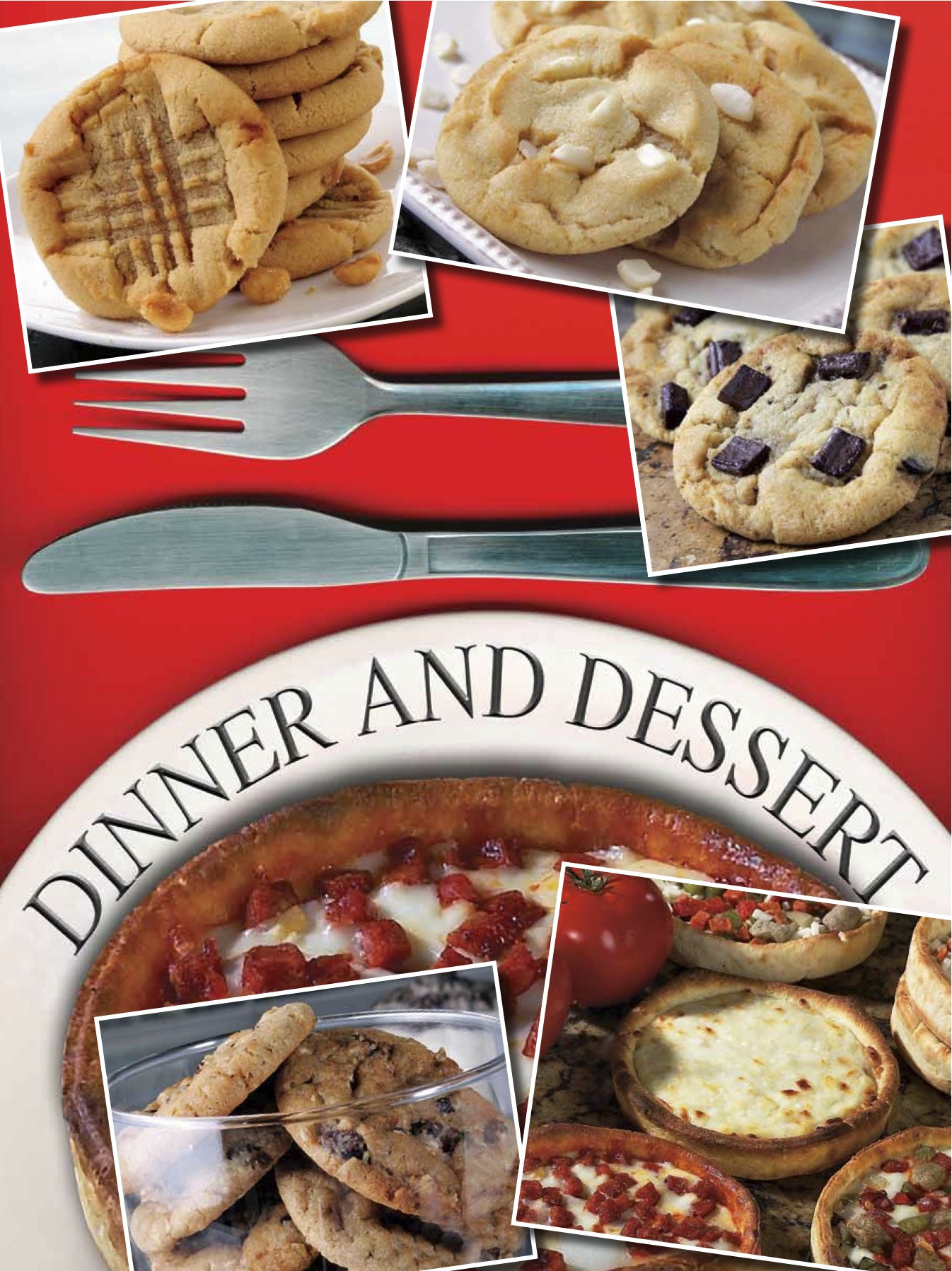 Dinner And Desserts  pizza for dinner & cookies for dessert