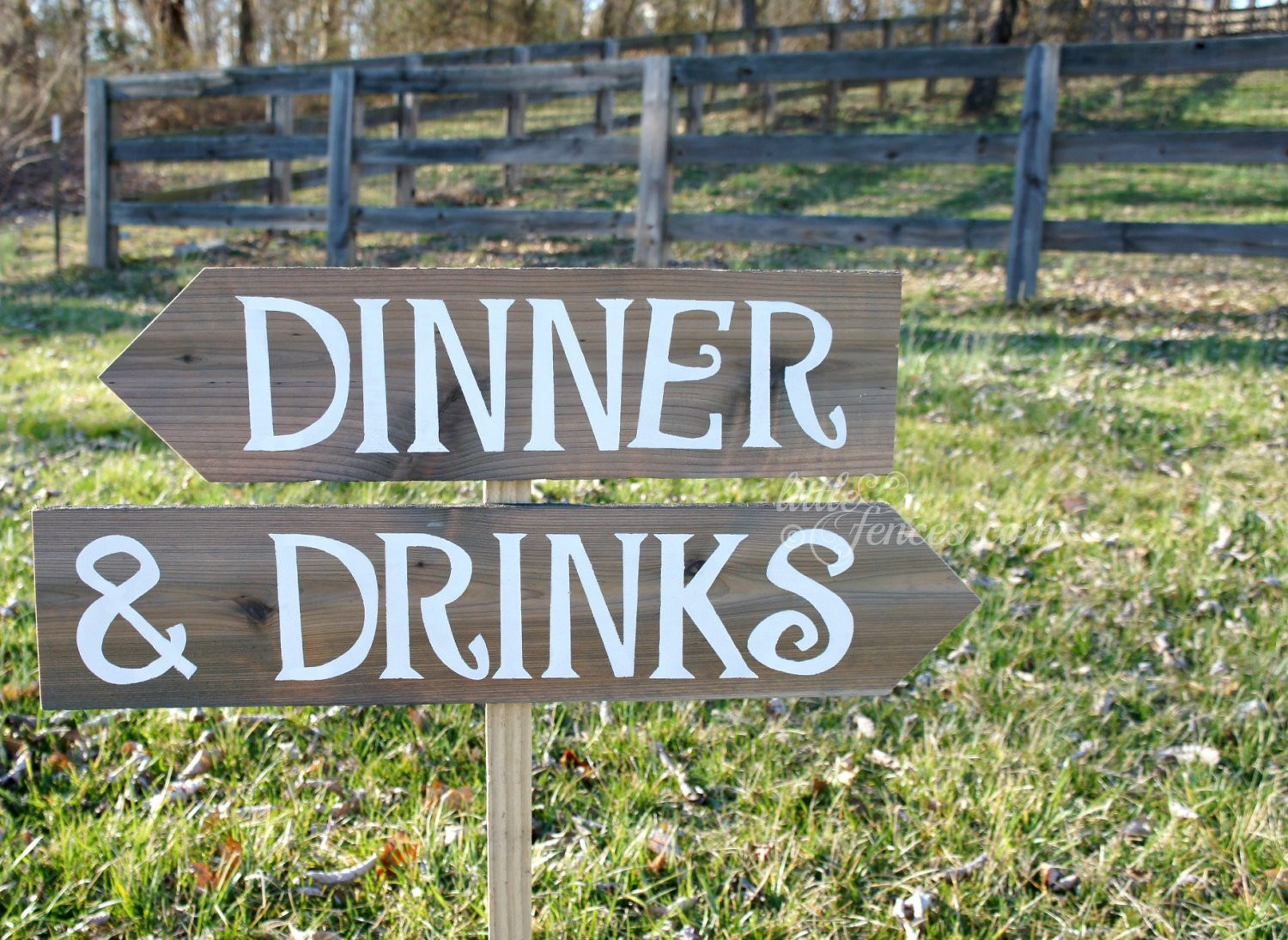 Dinner And Drinks  Drinks Sign Rehearsal Dinner Sign Arrow Sign Wooden Arrow