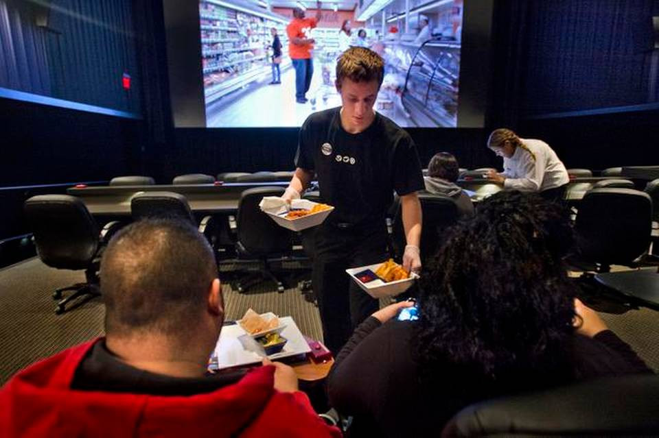 Dinner And Movie Theater  Rocklin theater now offers dinner and a movie in style
