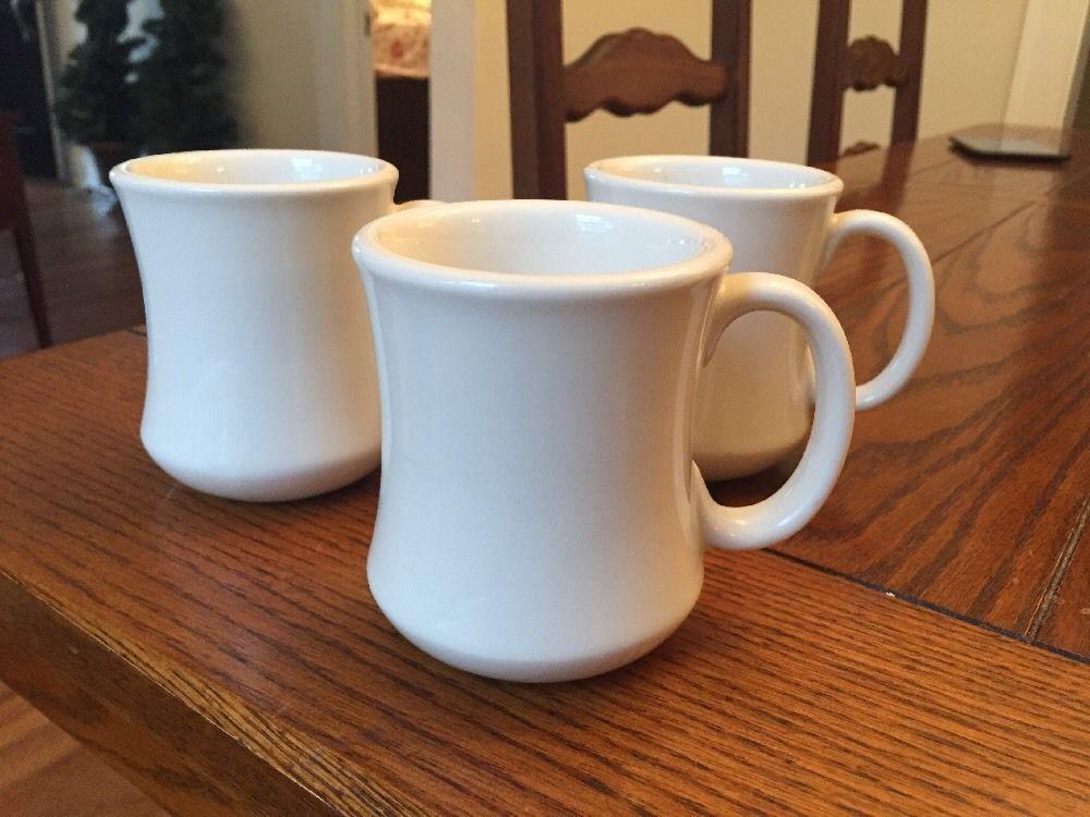 Dinner Coffee Mugs  3 Vintage Restaurant Ware Coffee Mug Thick Heavy Ultima