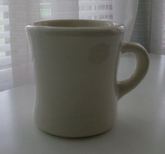Dinner Coffee Mugs  White Diner Coffee Mug