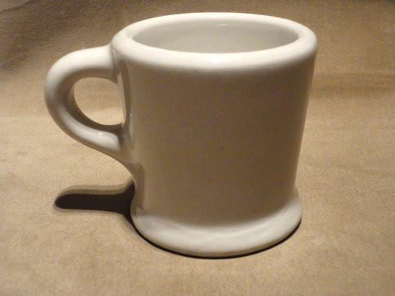 Dinner Coffee Mugs  Original Vintage 1940 s Diner Coffee Mug by AntiqueApartment