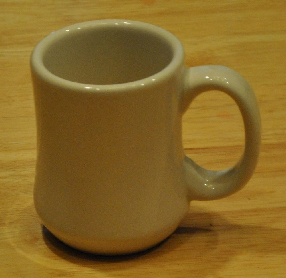 Dinner Coffee Mugs  Vtg White Restaurant Ware Diner Coffee Mug Cup C Handle