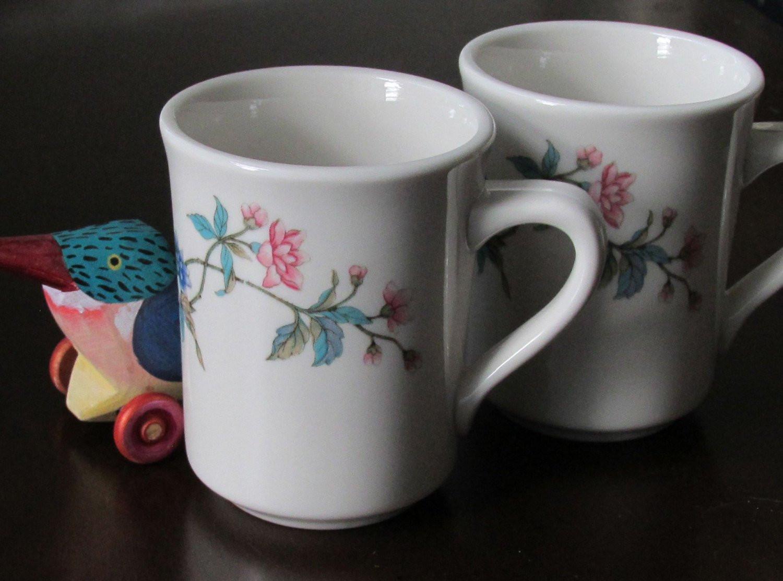 Dinner Coffee Mugs  Two Restaurant Diner Coffee Mugs Syracuse China by CocosRoom