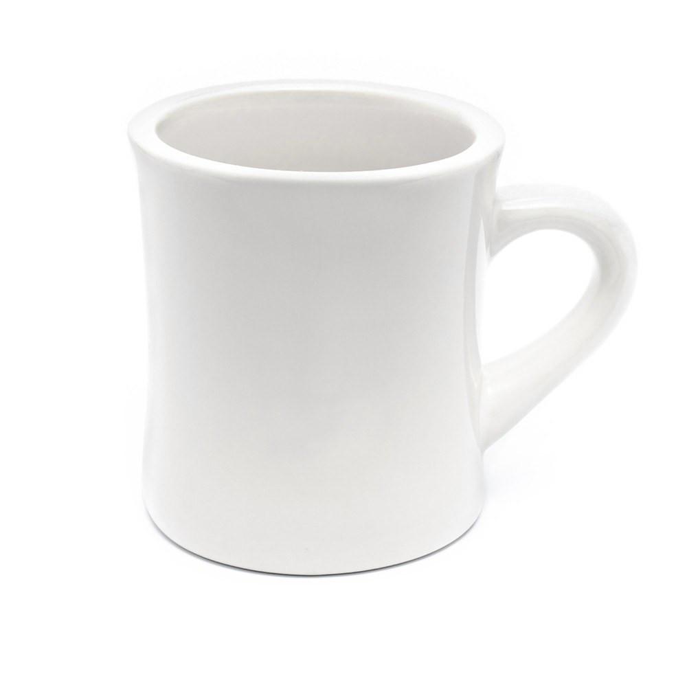 Dinner Coffee Mugs  Vintage Diner Mug White Coffee Mug