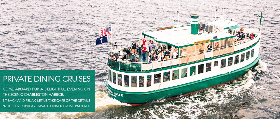 Dinner Cruises Charleston  Charleston Harbor Tours of Historic Charleston SC Boat Tours