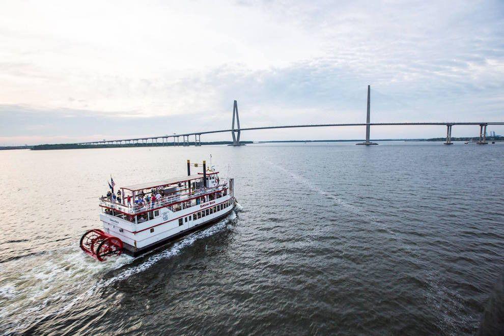 Dinner Cruises Charleston  Charleston Harbor Tours Keep the Light Shinin Holiday