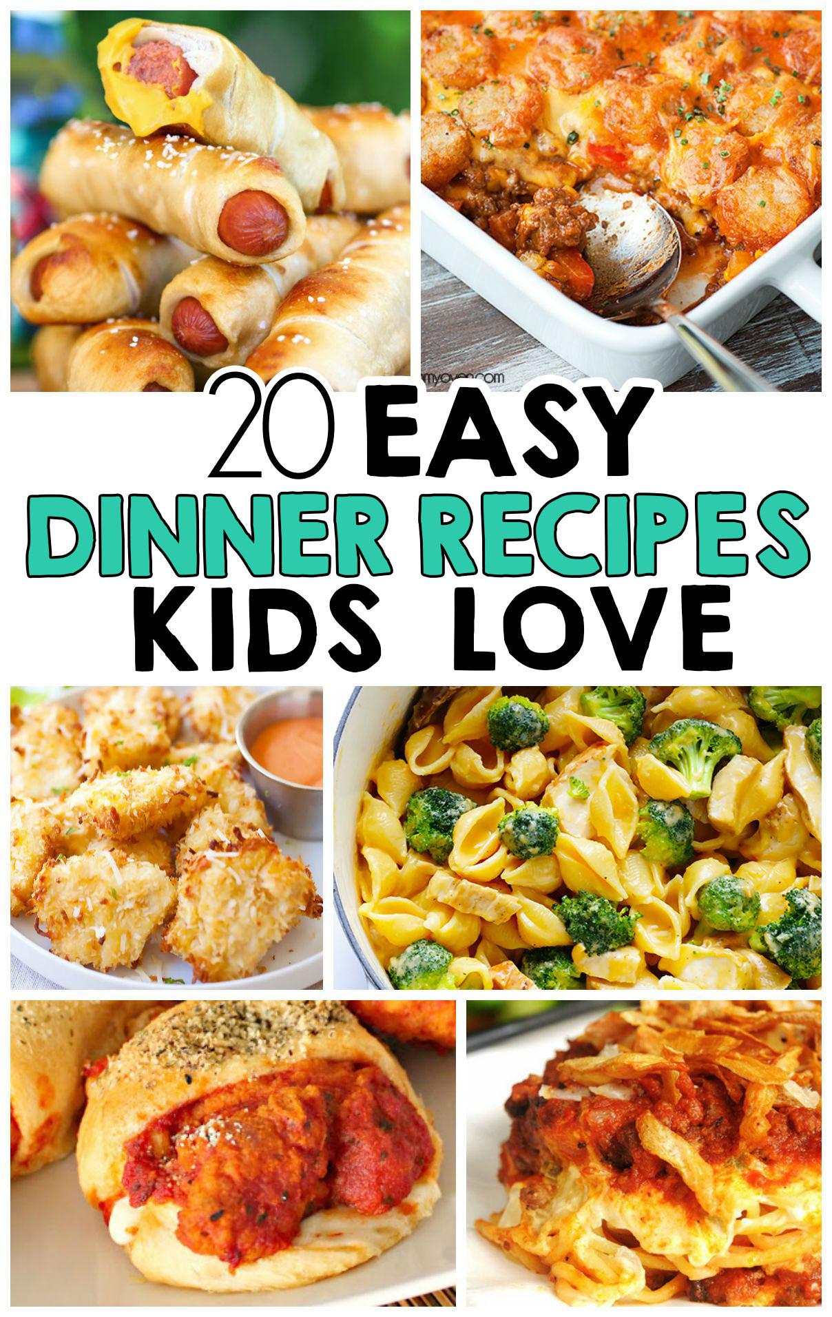 Dinner Ideas Easy  20 Easy Dinner Recipes That Kids Love I Heart Arts n Crafts