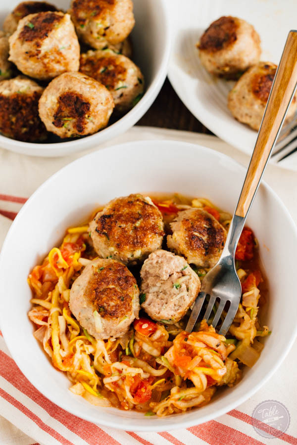 Dinner Ideas For Picky Eaters Adults  Zucchini Turkey Meatballs with Zoodles Table for Two by