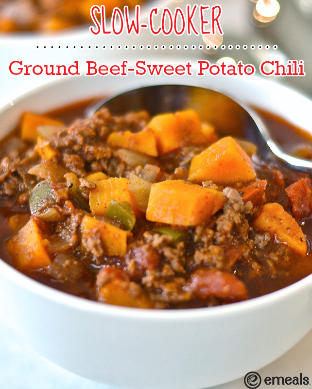 Dinner Ideas With Ground Beef And Potatoes  Paleo Slow Cooker Ground Beef Sweet Potato Chili — The