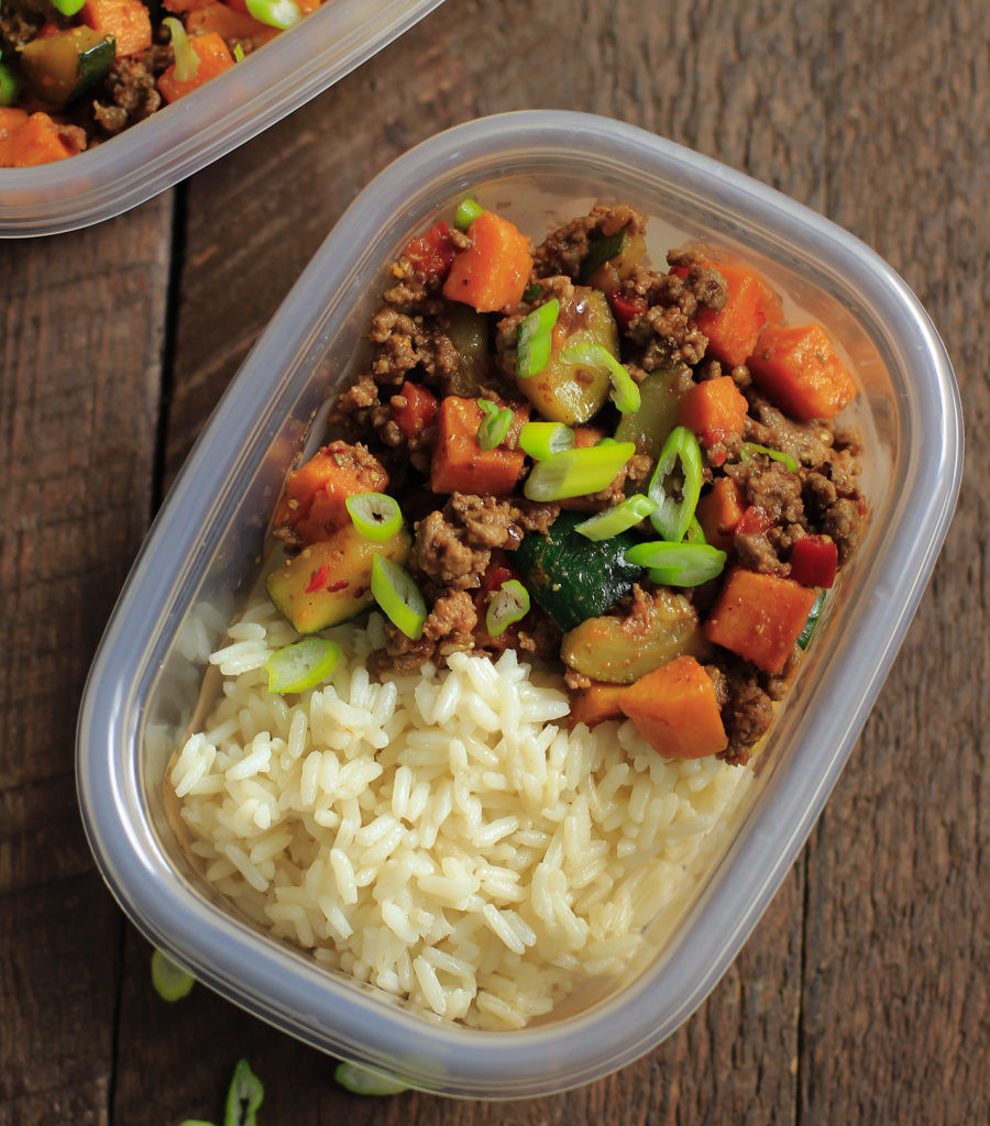 Dinner Ideas With Ground Beef And Potatoes  Ground Beef Zucchini Sweet Potato Skillet Meal Prep