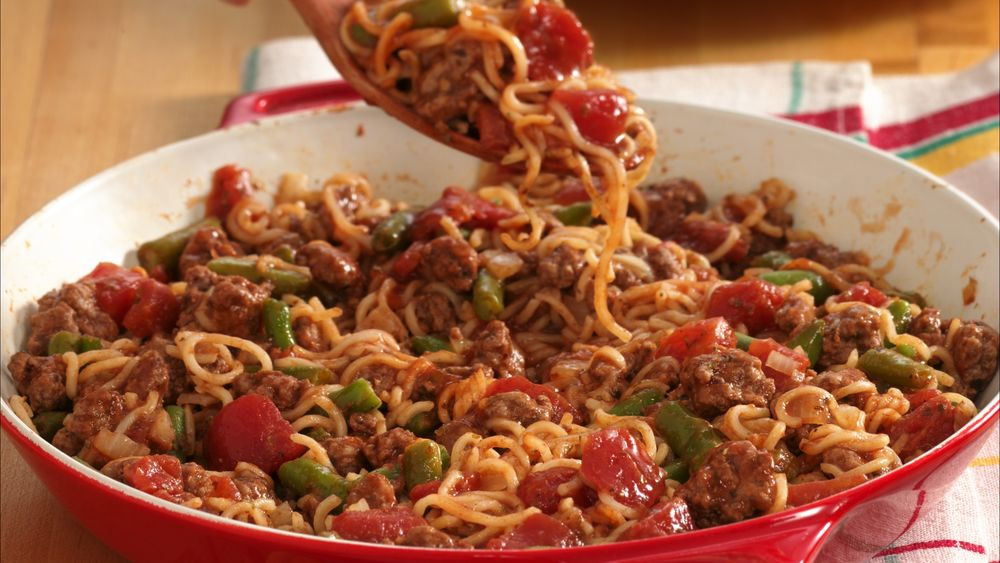 Dinner Ideas With Hamburger  Easy Beef and Noodle Dinner recipe from Pillsbury